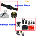 Gopro capacete de montagem para gopro hero3 3 + 4 hero 5 sj4000/5000 xiaomi yi 4 k eken h9 gitup 2 action camera capacete acessórios