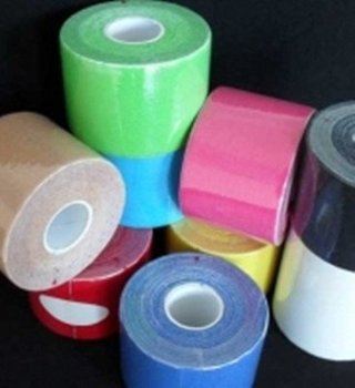 12pcs /lot Authentic Kinesiology tape 5CM*5M Package 12roll for bike game