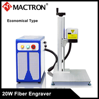 Mactron Economical 20W/30w Portable Metal/Plastic Fiber Laser Engraving Machine for the Stainless Steel and Other Metal Sheet