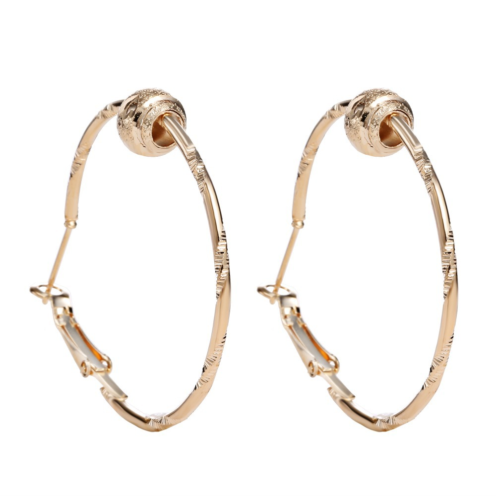 Silver Plated Big Hoop Earring For Women  Wedding Hoop
