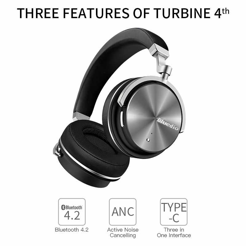 43b0ba6e866 Original Bluedio T4 active noise cancelling wireless bluetooth headphones  wired headset with microphone for phone xiaomi