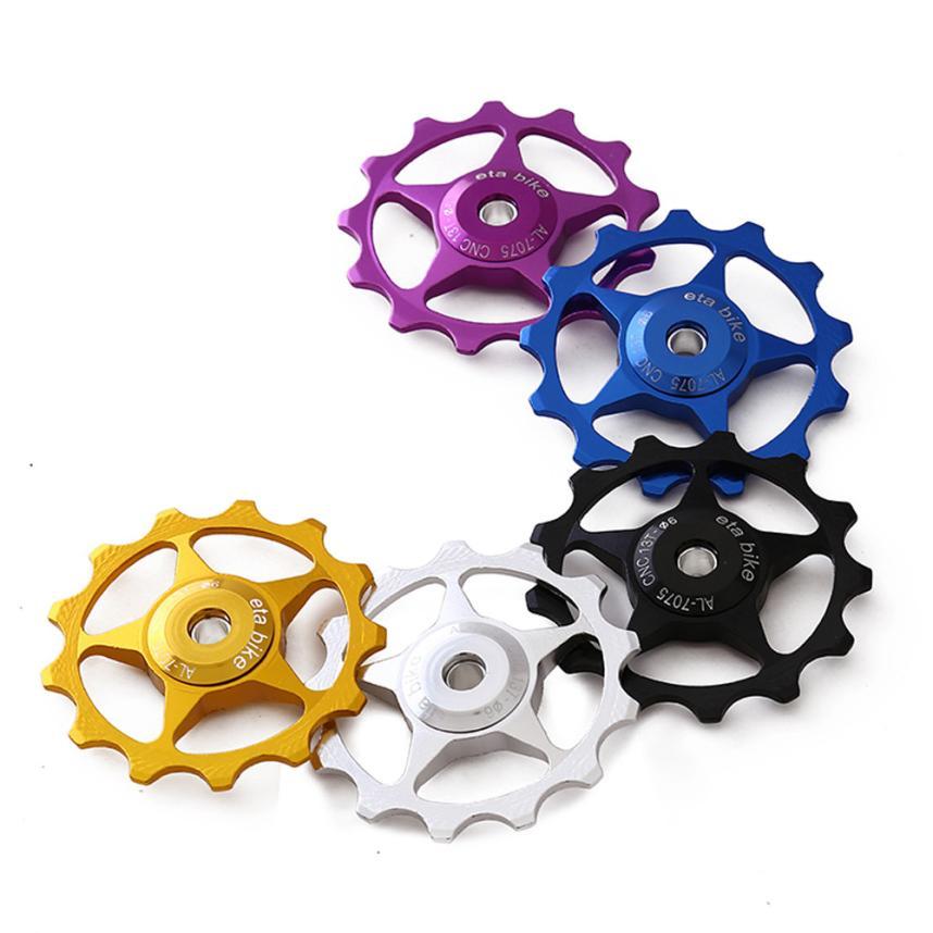 2pcs 11T Aluminium Jockey Wheel bicycle Rear Derailleur Pulley guide bearing