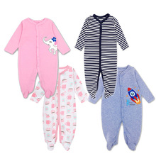 2pcs/lot Newborn Baby Clothing 100% Cotton Rompers Long Sleeved baby boy girl clothes Set Kids Jumpsuit