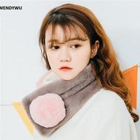 WENDYWU New Winter Scarf Girl Warm Wool Long Scarf Thickening