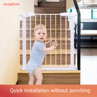 Babyfond Youmanchengpin Child Safety Gate 81cm Stairs Guard Railing Fence Pet Dog Door