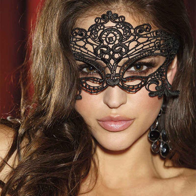Seksi Siyah Dantel Göz Kapakları porno seks oyuncakları Kadın Için Cosplay Yama Erotik Aksesuarları Kostümleri Maske Masquerade BDSM Kölelik Fetiş