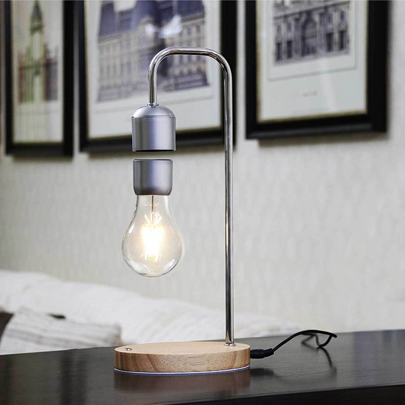 Dropshipping Magnetic Levitating Floating Bulb Desk Lamp for Unique Birthday Gifts Room Decor Night Light Home Decoration