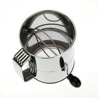 1 Pc 8-Cup Korba Ręczna Ze Stali Nierdzewnej Obrotowy Przesiewania Mąki Sito Mąki Sito Shaker Cup Proszku Do Pieczenia Narzędzia Kuchenne
