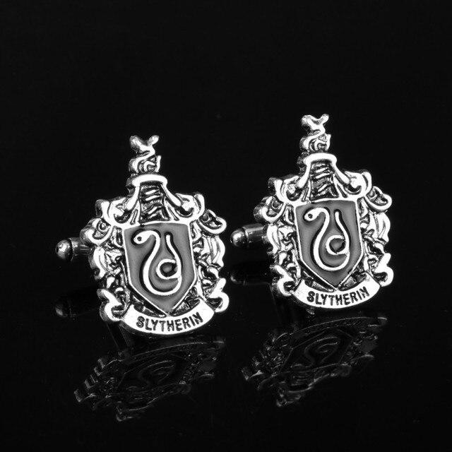 764fcb90d709 Hogwarts Badge Cufflinks men's Shirt Cuff Buttons Vintage Cuff Links Pins  Students graduation Gift Chilrdren accessory