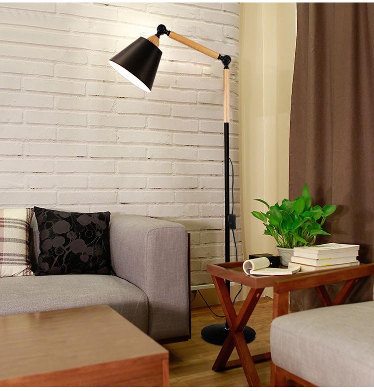 Acheter Plancher Nordique Lampe De Salon Salon Chambre Grande Lampe Rétro  Stands En Métal Restaurant Bureau Fer Moderne Éclairage De Sol De $197.67  Du ...