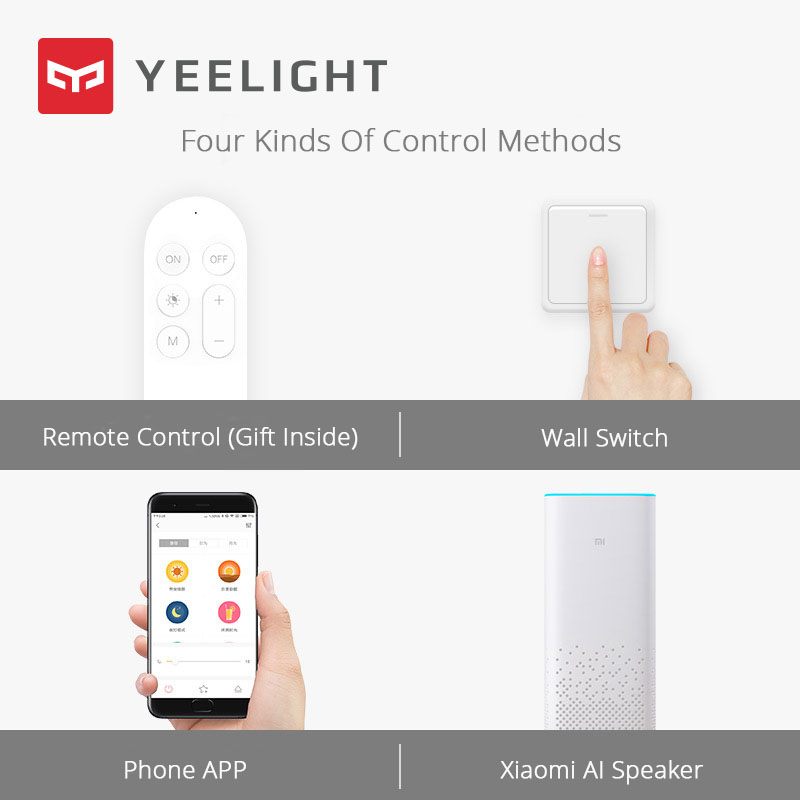 Image 4 - Xiaomi Yeelight Led ceiling Pro 650mm RGB 50W Mi home app control Google home For amazon Echo For xiaomi smart home kits-in Smart Remote Control from Consumer Electronics