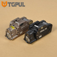 TGPUL Tactical CNC Finished SBAL PL LED Weapon Light With Red Laser Pistol Rifle Flashlight Constant