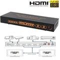 3D 4 К 2X4 HDMI Splitter Switcher 5.1CH Audio Extractor/ADV/2-КАНАЛЬНЫЙ Конвертер Поддерживает Full HD 1080 P SPDIF/Toslink С Адаптером Питания