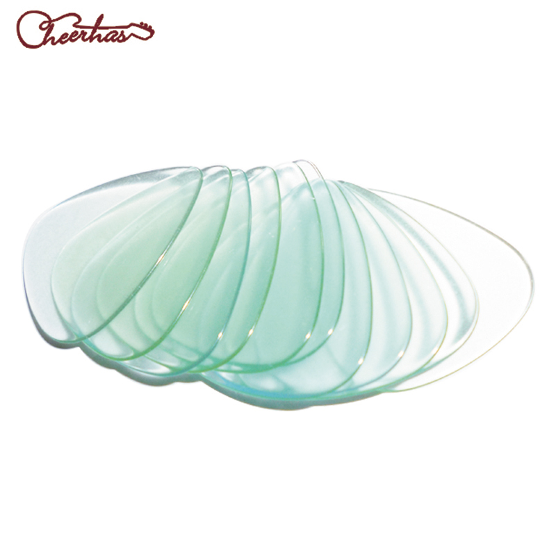 0.96mm Heavy light green blank celluloid apparent transparent guitar pick
