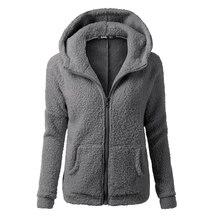 Women Fleeced warm hooded jackets plus size