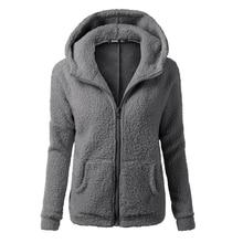 Bodecin Women Fleeced warm hooded jackets plus size