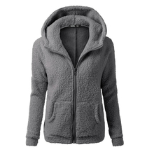 Bodecin font b Women b font Fleeced warm hooded font b jackets b font plus size