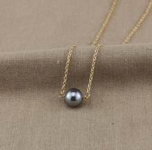 gray simulated pearls chokers necklaces for women snake chain fj607(China)
