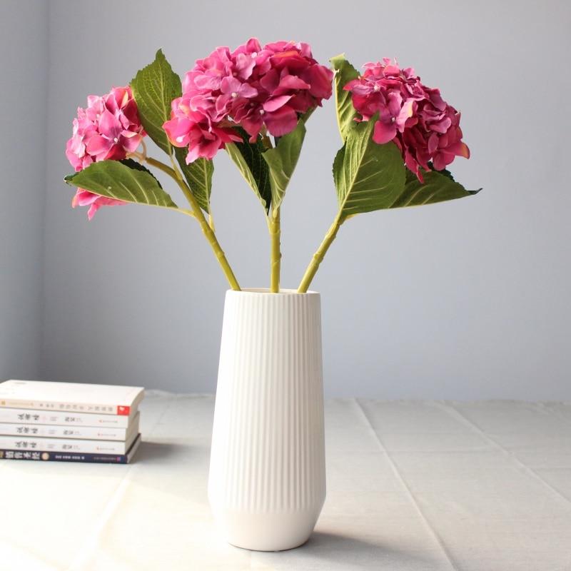 3PCS lepo hortenzija umetno cvetje svilene rože domače dekoracije - Prazniki in zabave - Fotografija 6