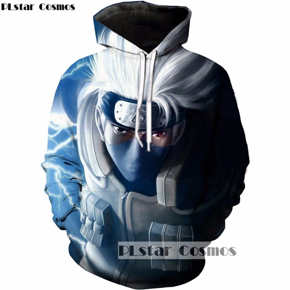 PLstar Cosmos 2017 New Fashion 3d Hoodies Anime Naruto Hatake Kakashi Character printing 3d Sweatshirts Women Men Tracksuits