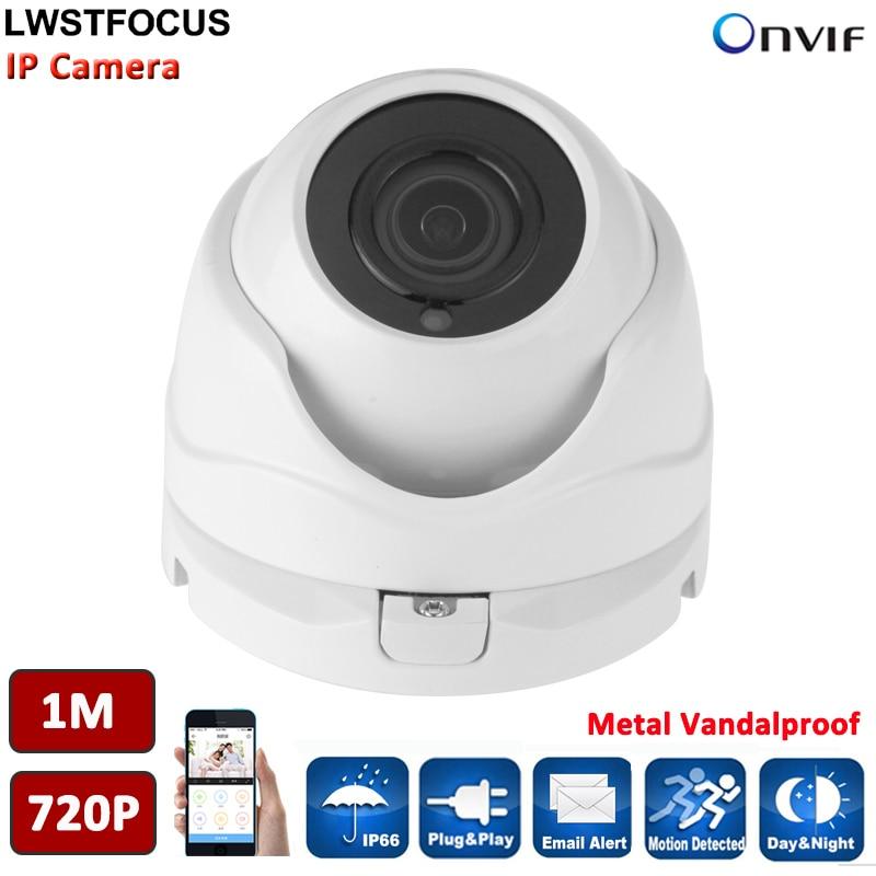 ФОТО HD 1MP IP Cam 720P security Surveillance CCTV IP Dome Camera POE IR night vison ONVIF 2.4 network indoor Cam P2P Phone view