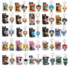 Funko Pop porte-clés jouet Dragon Ball Son Goku végéta Naruto une pièce figurine en vinyle étranger choses Rick et Morty poche porte-clés