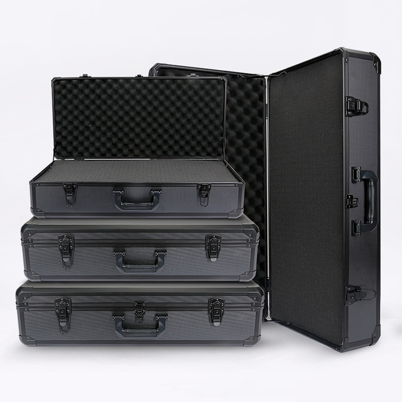 720x220x140mm Aluminum Tool Case Impact Resistant Safety Case Equipment Instrument Box Camera Case w Pre cut