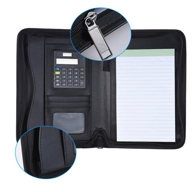 Us 19 52 28 Off Padfolio Pu Leather A5 Portable Business Portfolio Padfolios Folder Doent Case Organizer Portafolios Office In