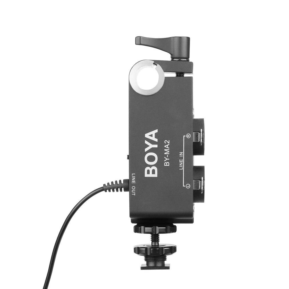 By-Ma2 double canal enregistrement Audio mélangeur Xlr Jack 6.5 Mm à 3.5 Mm système de Microphone sans fil pour appareil photo reflex numérique Canon Nikon Sony