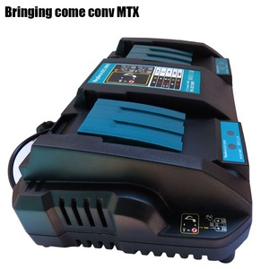 Suitable for Makita electric tool whose Li-ion battery Double USB Port EU Plug Double battery Charger 4A 7.2V 14.4V 18V BL1830(China)
