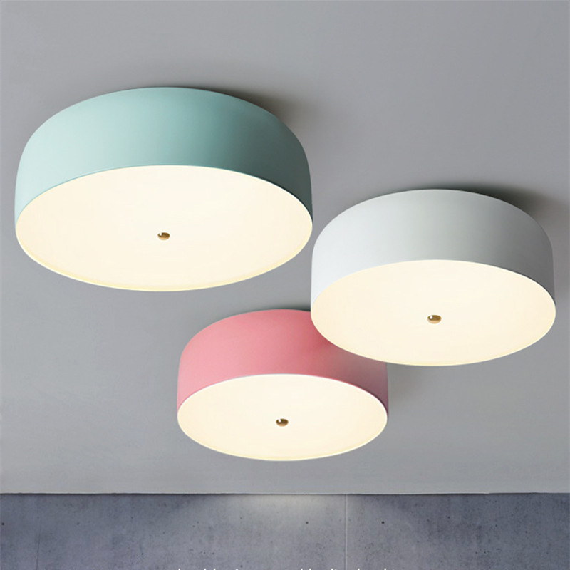 US $71.4 32% OFF|Postmodern Macarons Dining Room Ceiling Light Nordic  Lovely Bedroom Ceiling Lamp Living Room Bar Kids Lights Free Shipping-in  Ceiling ...