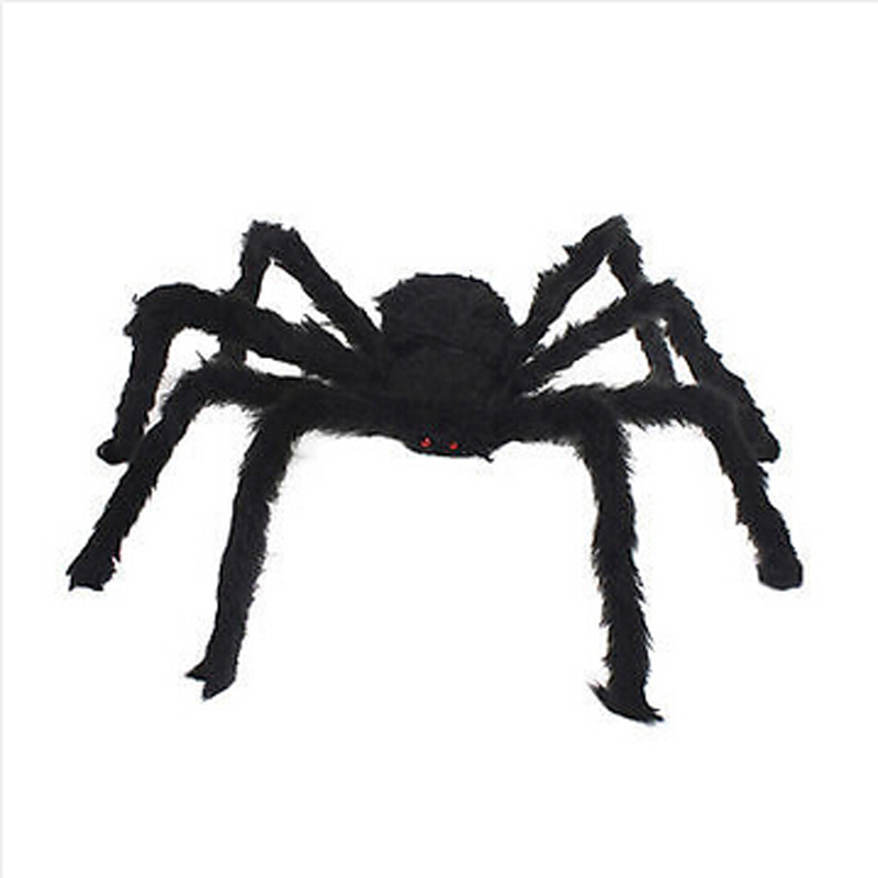 high quality simulate black giant hairy spider halloween party prop decoration halloween spider decor 30cm - Spider Halloween Decorations
