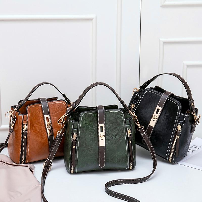Women\\'S Bag Women Leather Handbags Vintage Lady Hand Bags Women Messenger Shoulder Bag Small Purse Sac A Main Bolsa
