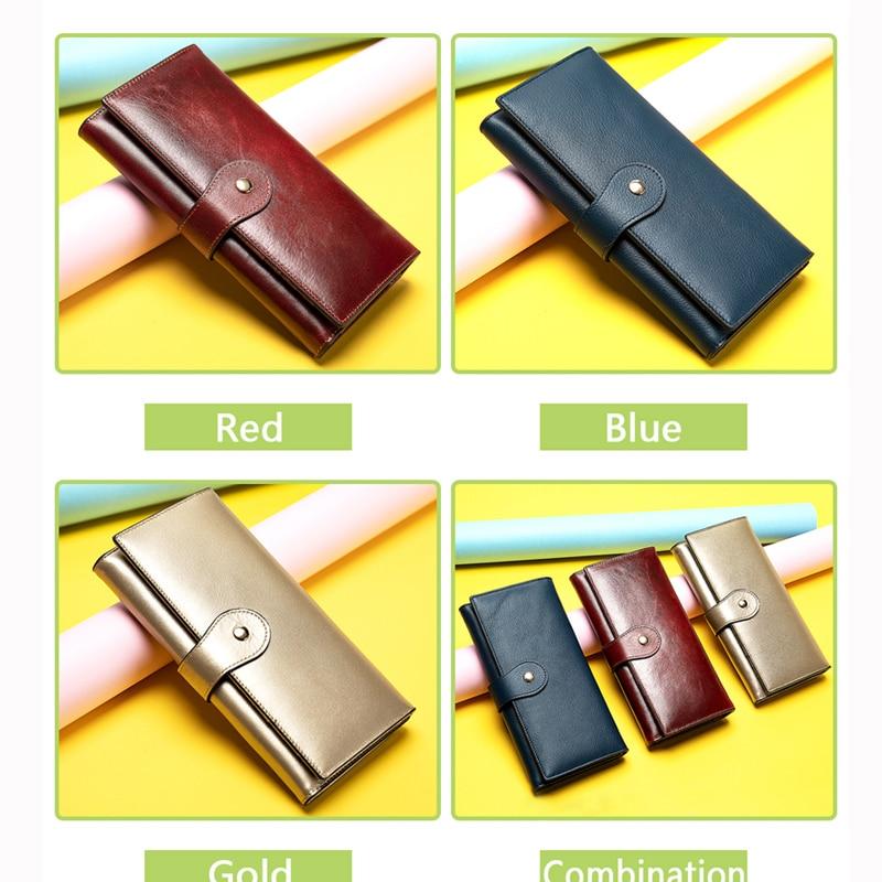 WESTAL women's wallet women genuine leather clutch female long wallet for phone/cards lady wallets purses girl wallets money bag