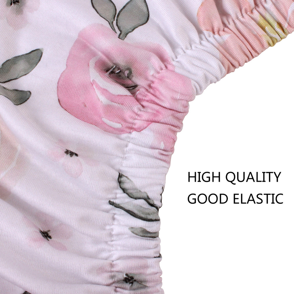 Stretchy Fitted Crib Sheets Set Portable Crib Soft Mattress Active Printing Dyeing Infant Sheets Newborn Baby Mat