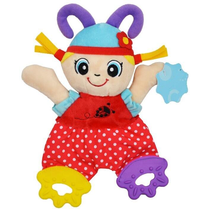 Image 2 - Sonajeros de juguete para bebé con diseño de animales de dibujos animados, sonajeros de juguete, muñeco de peluche de juguete para bebés, 20% de descuentoappease toweltowel animalcat animal -