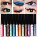Brand Cosmetica Eye Makeup EyeLiner Pencil Delineador Gold White Blue Waterproof Metallic Glitter Liquid Eyes Liner Maquillage