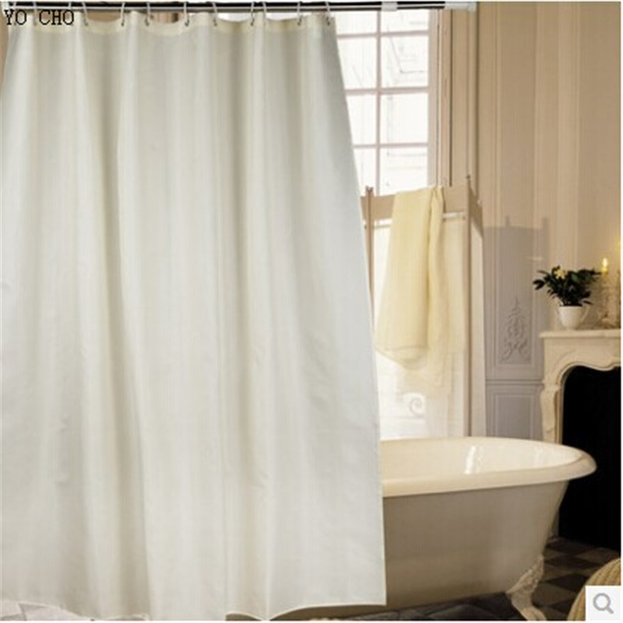 [180cm High ] European Modern Elegant Mildew Thickened Polyester Fabric Waterproof Beige