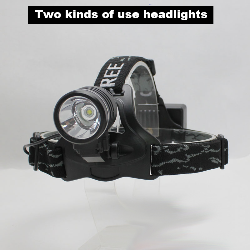 MARS MADAM The new LED dual-use XM - L2 T6 strong baldheaded light Bike lights Outdoor fishing hunting head lamp