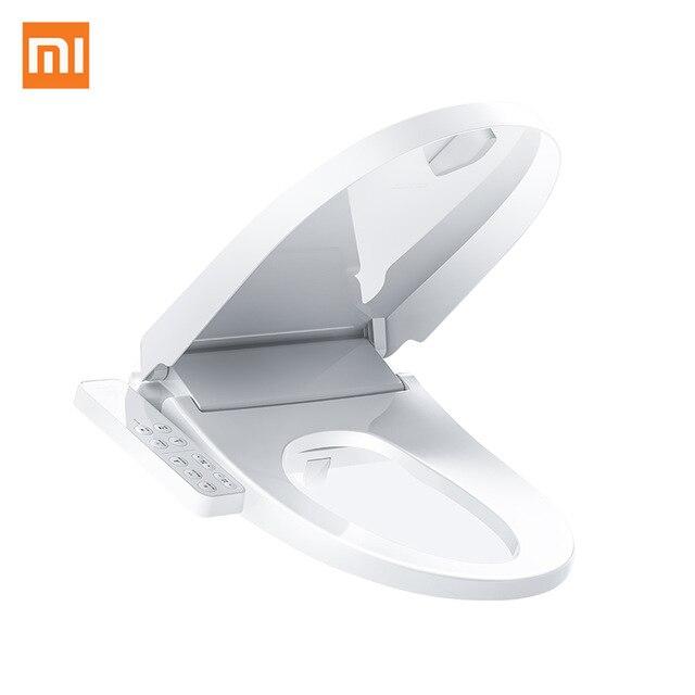 Оригинальный xiaomi Smart mi унитаза Washlet удлиненные электрическое биде крышка умный туалет крышкой для xiaomi mi умный дом купить на AliExpress
