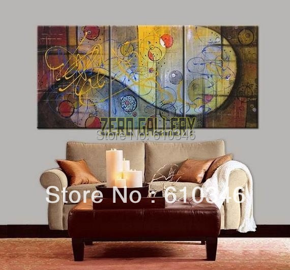 handicraft abstract modern colorful islamic art reproduction oil painting ready hanging quadro frames of living room