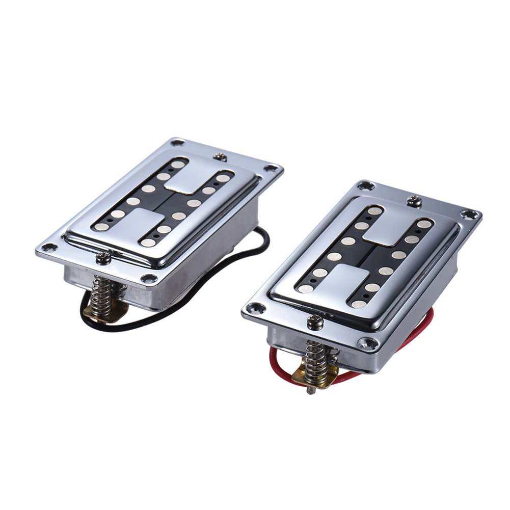 2pcs high-quality pickups 1 bridge pickup + 1 neck pickup Humbucker Double Coil Electric Guitar Pickups belcat electric guitar pickups humbucker alnico 5 humbucking bridge neck chrome double coil pickup guitar parts accessories