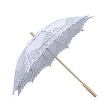 Lace Parasol Umbrella Bride White YO Decoration-Accessories Photo-Prop Embroidery Handmade
