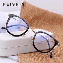 8b366a49ca4 Feishini Brand Myopia Big Face Eyeglasses frames Glasses Clear Lens Vision  Square Glasses Frame Women Vintage