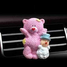 Automobile air freshener automobile accessories conditioner export perfume Q version cartoon bear.