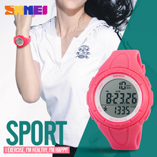 SKMEI Digit Pedometer Women Wristwatch LED Health Sports Watches Waterproof Alarm Chrono Calendar Watch Women Sport Clock Female