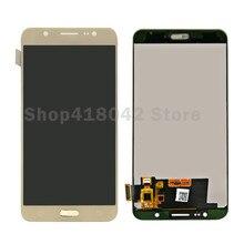 ЖК-дисплей Дисплей + Сенсорный экран планшета Ассамблеи для Samsung Galaxy J7 2016 J710 J710F J710M J710H можно настроить Яркость