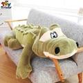 Creative cartoon simulation green crocodile plush stuffed doll toys long pillow cushion kid baby boy birthday gift Triver Toy