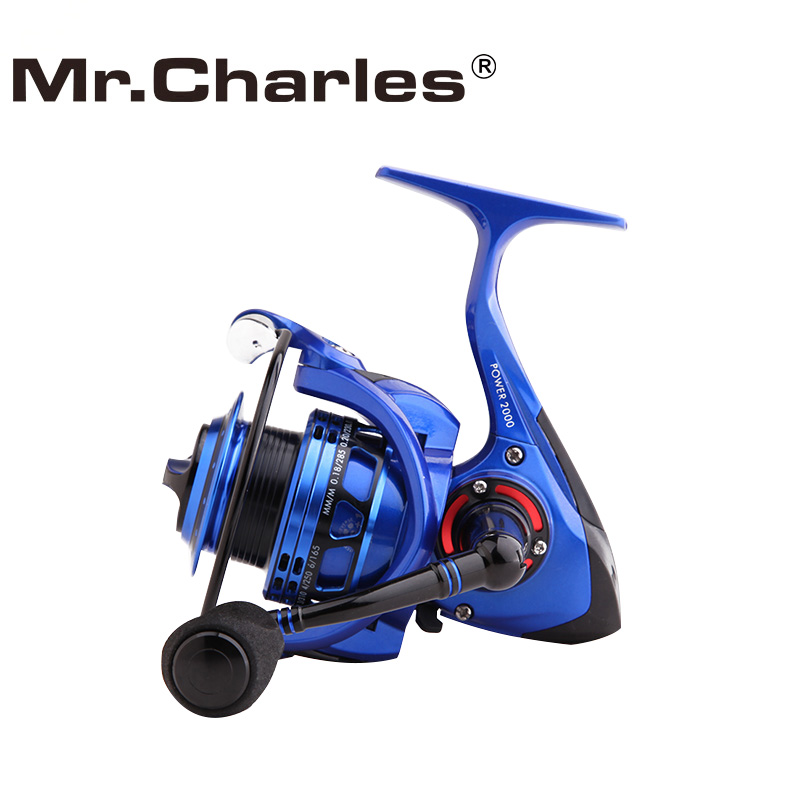 Mr.Charles Power Spinning Fishing Reel, Full Aluminum Body 5.1:1 6+1BB Reel Fishing Carp Fishing Reel, Extra Smooth
