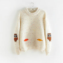 Sweaters Pullovers Knitted Warm Loose Colorful Womens New-Fashion for Catton Sweet Autumn